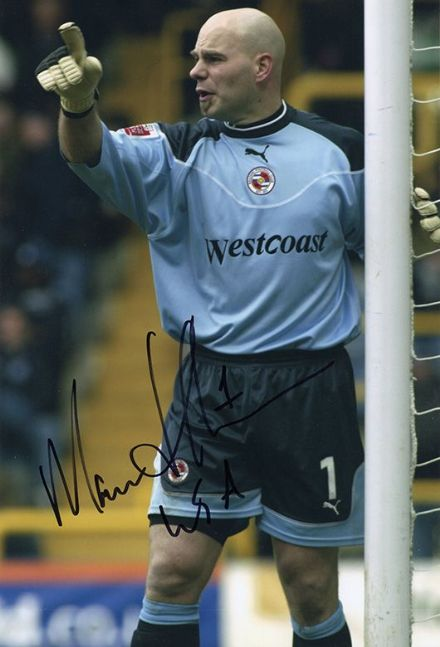 Marcus Hahnemann, Reading, signed 12x8 inch photo.